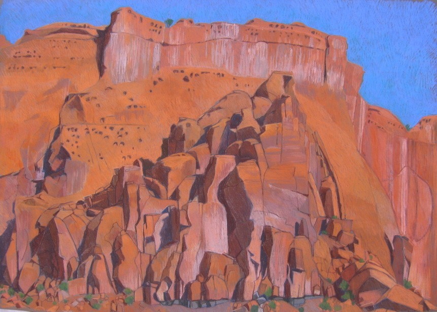 Long Canyon, Boulder Utah, Scotty Mitchell, plein air, pastel