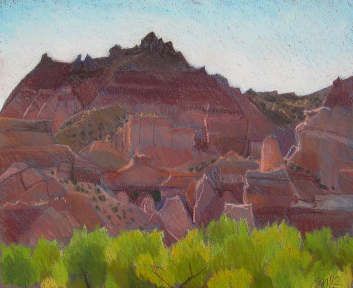 Capitol Reef, pastel, landscape, Scotty Mitchell