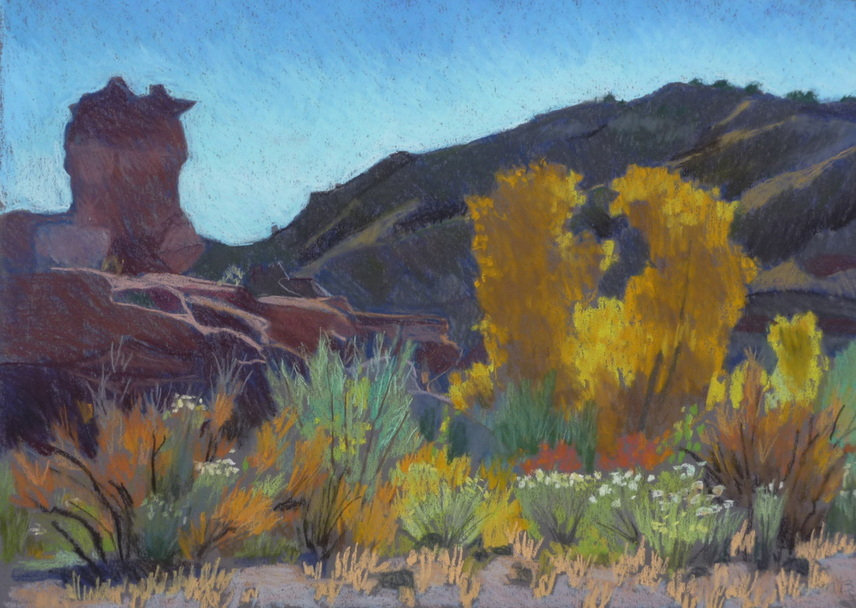 Capitol Reef, landscape, pastel, Scotty Mitchell