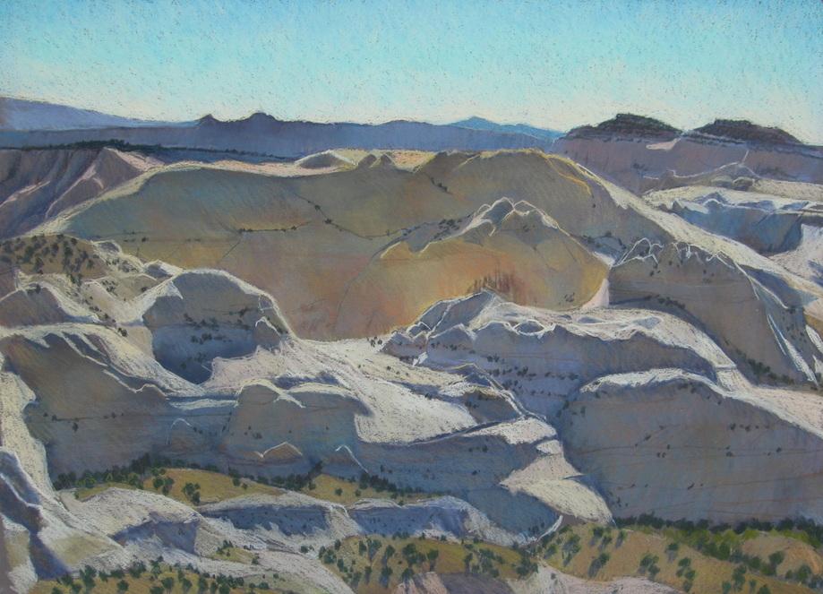 Southern Utah, Escalante, pastel landscape, plain air, Scotty Mitchell