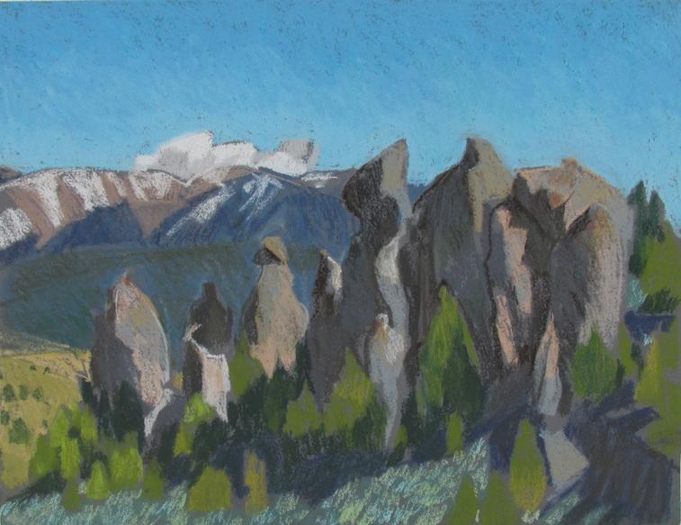 Scotty Mitchell, Utah, plein air pastel