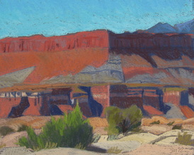 Glen Canyon, pastel, red rock, Scotty Mitchell