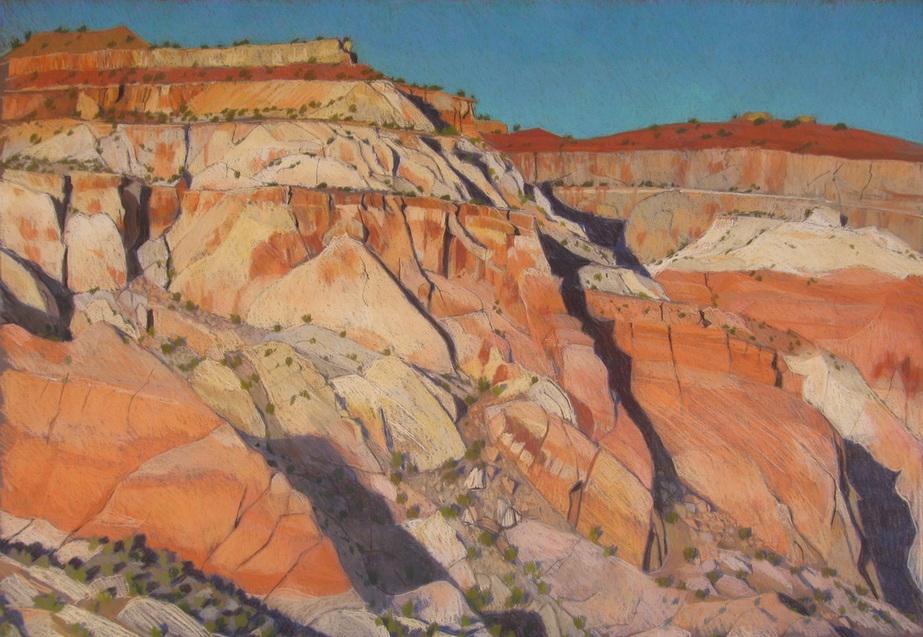 Escalante, GSENM, plein air, pastel, landscape drawing, Scotty Mitchell