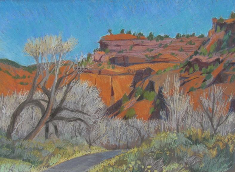 Long Canyon, southern Utah, Boulder, plain air, pastel landscape