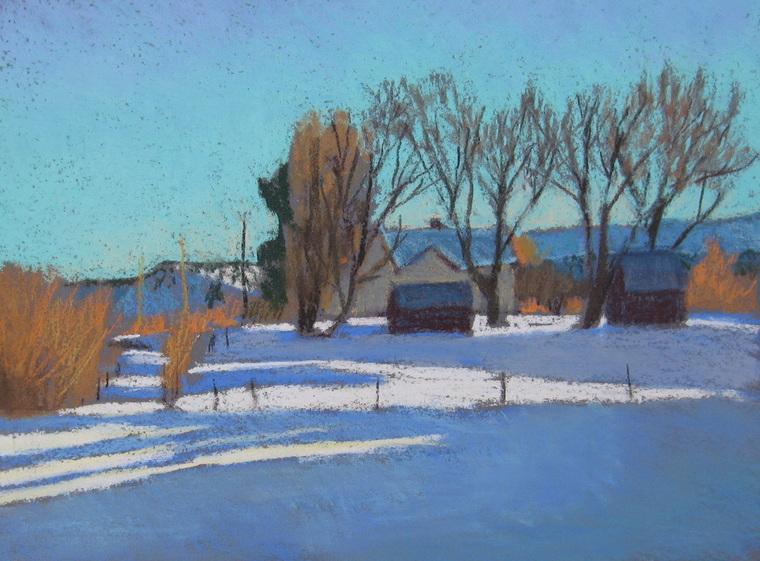 Boulder Utah, pastel, plein air, Scotty Mitchell