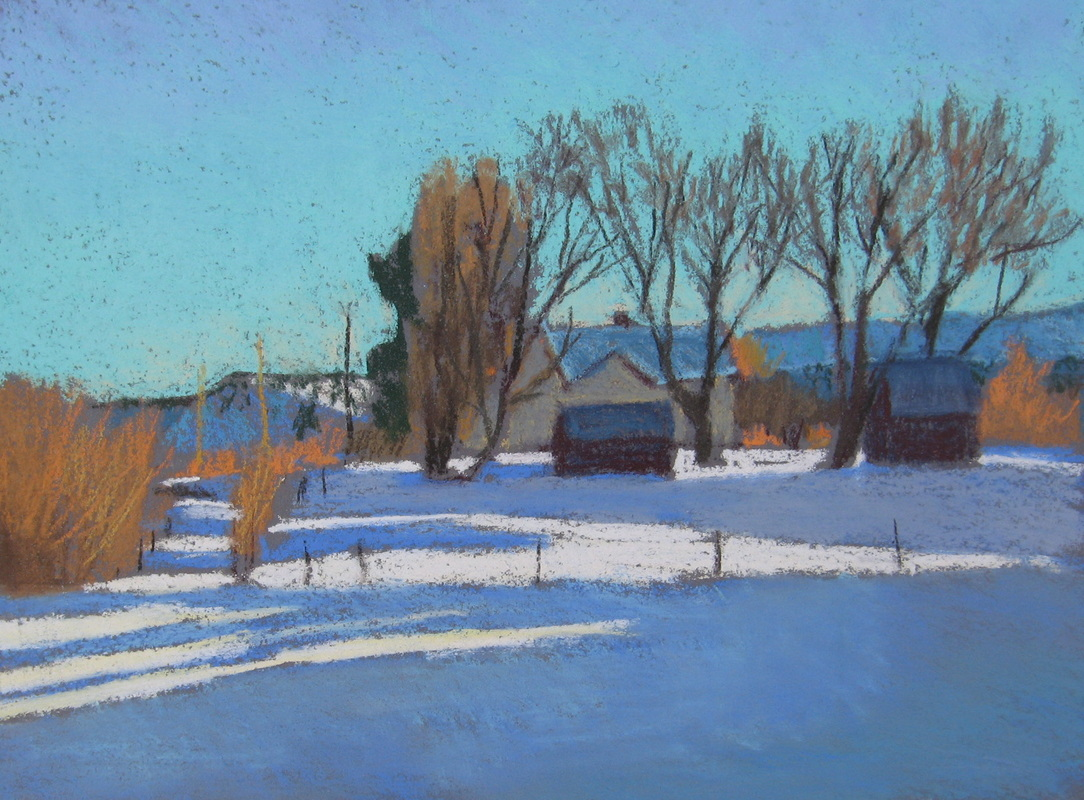 Boulder Utah, pastel, plein air, Scotty Mitchell