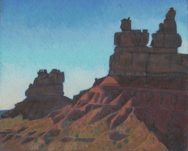 Valley of the Gods, Utah, plain air, pastel