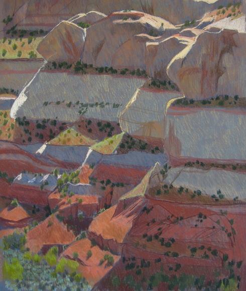 Calf Creek, GSENM, pastel, Utah, Scotty Mitchell