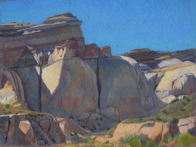 Capitol Reef, plein air, pastel, Scotty Mitcehll