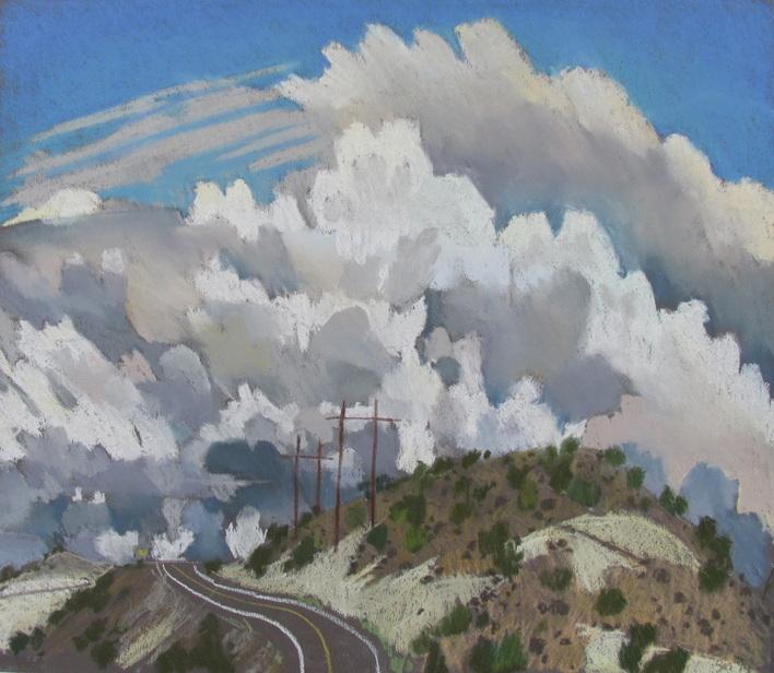 Boulder,Utah, Highway 12, plein air, pastel , Scotty Mitchell