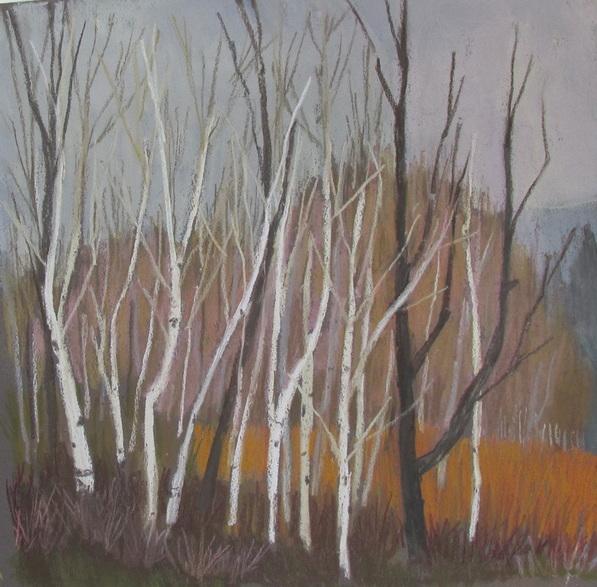 Boulder Mountain, Utah forests, pastel, Scotty Mitchell