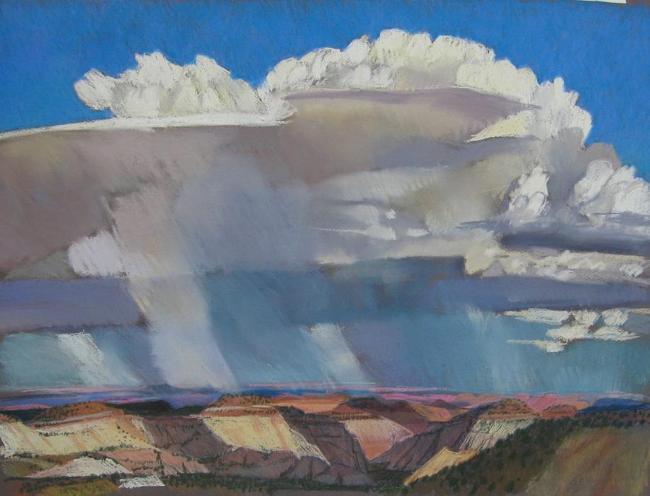 clouds, plein air, southern Utah, Scotty Mitchell