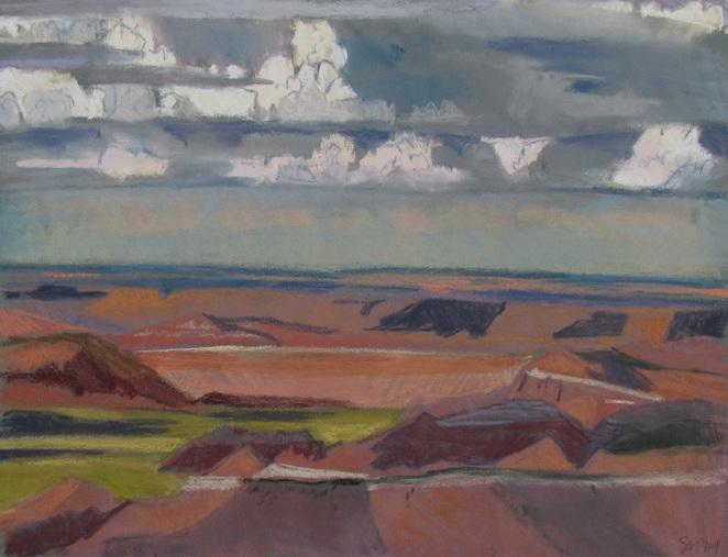 Redrock, Desert, Southwest landscape, pastel, Scotty Mitchell