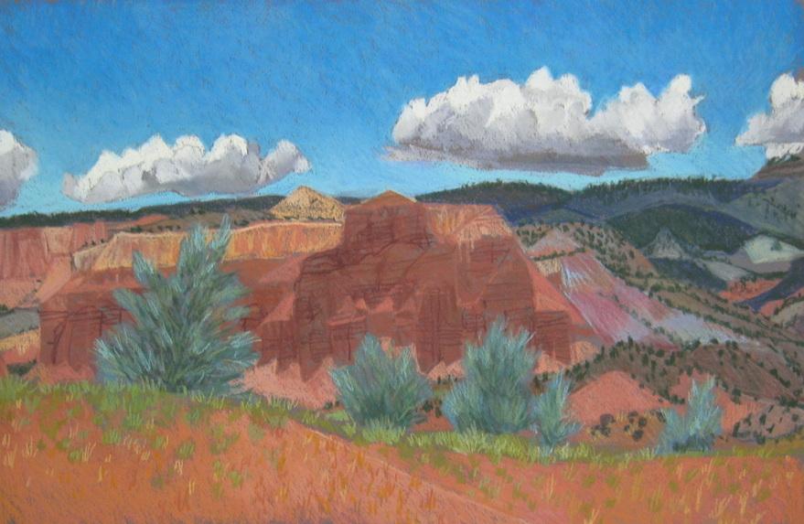 Torrey Utah, plein air, red rock, Scotty Mitchell, pastel