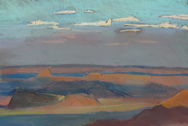Southwest landscape, Utah, pastel, Scotty Mitchell