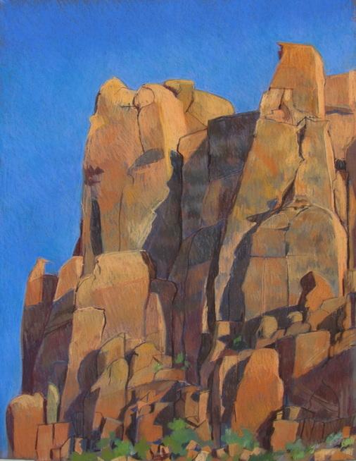 red rock, utah, landscape, pastel, Scotty Mitchell
