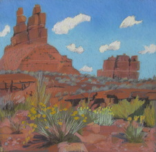 Valley of the Gods, plain air, Scotty Mitchell