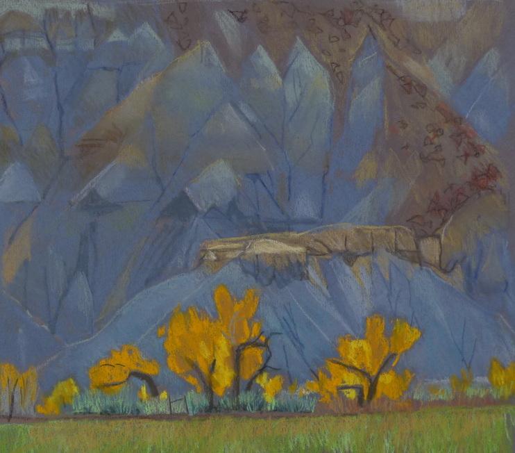 Caineville Utah, pastel, plein air, Scotty Mitchell