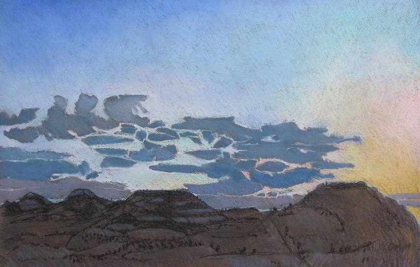 pastel landscape, Scotty Mitchell