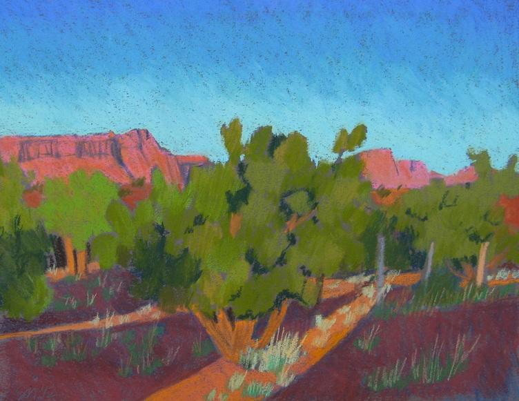 Capitol Reef, Torrey, landscape, pastel, Scotty Mitchell