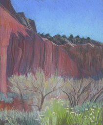 Capitol Reef, red rock, pastel, Scotty Mitchell