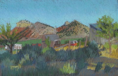Teasdale, Utah, pastel, plein air ,Scotty Mitchell